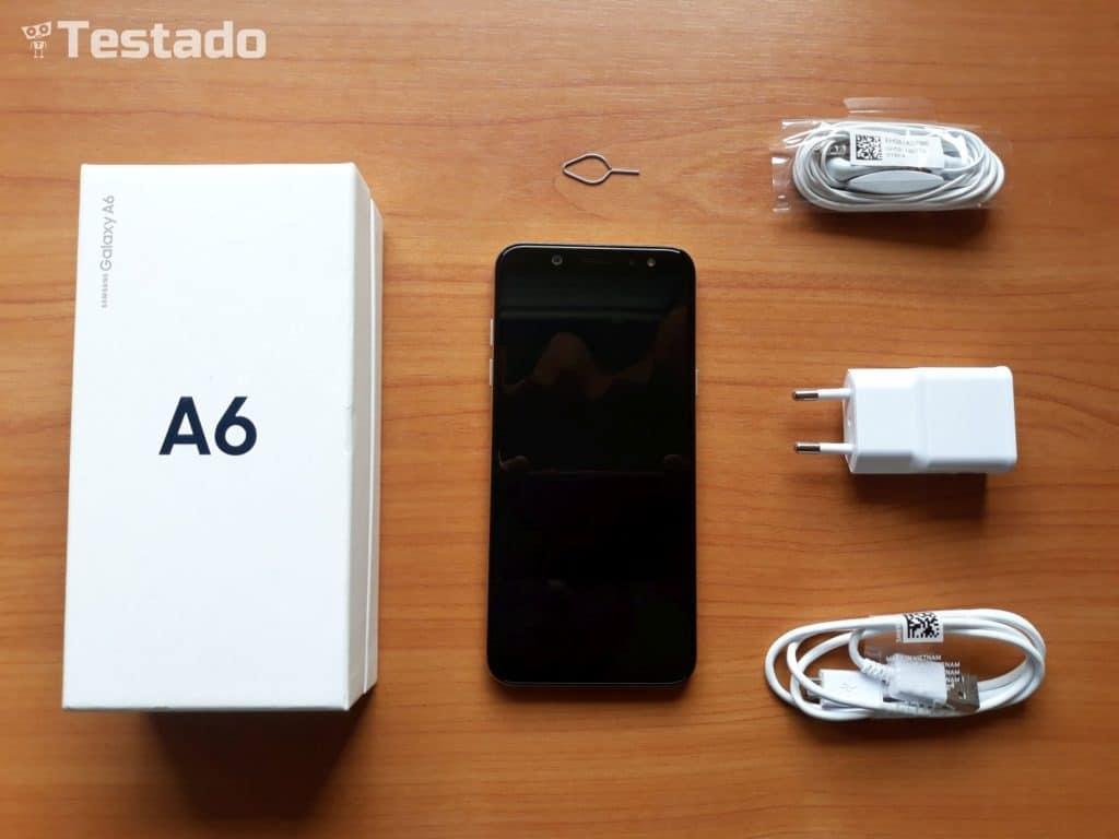 Samsung Galaxy A6 - obsah balení