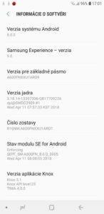 Samsung Galaxy A6 - systém