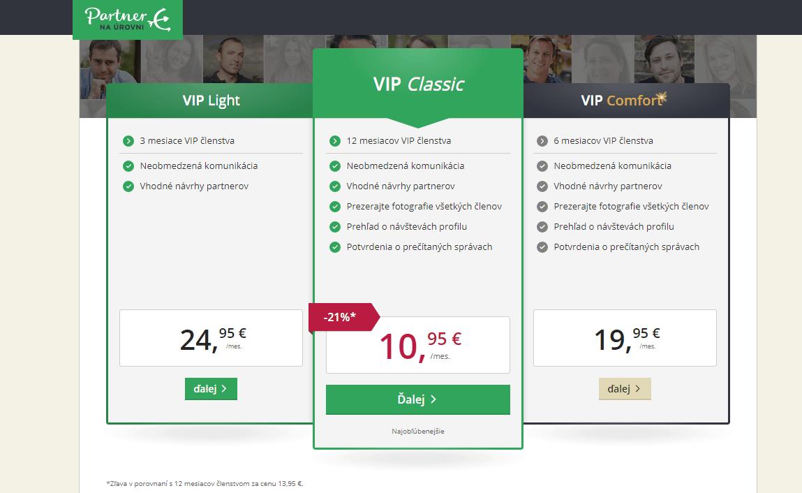 Zoznamka cena stránok