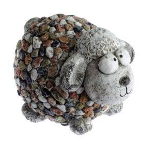 Záhradná dekorácia Ovečka s kamienkami
