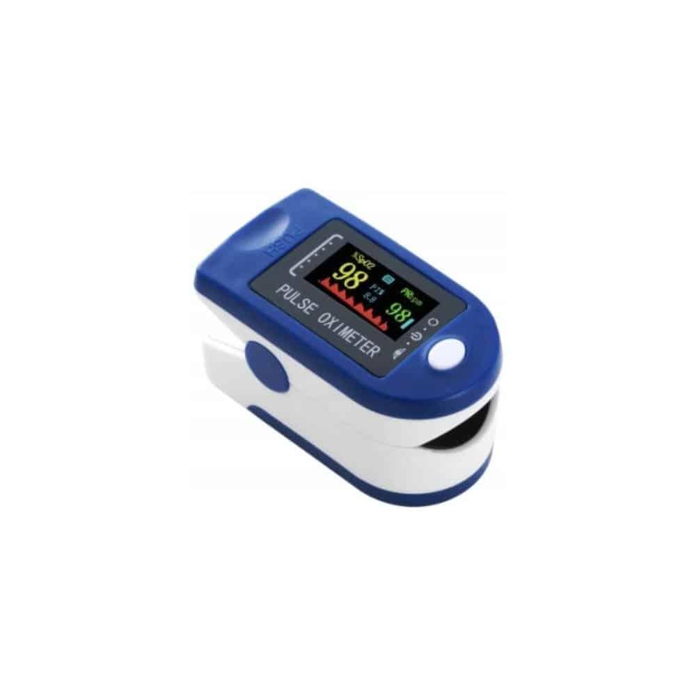 ISO Prstový pulzný oximeter LCD 13583